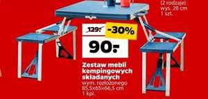 Zestaw mebli kempingowych składanych ( stół + 4 krzesła ) | NETTO |