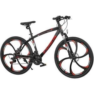 Rower górski MTB INDIANX-Rock 3.6 M18 26 cali męski Czarno-czerwony