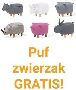 Puf zwierzak gratis z kolekcji dziecięcej przy zakupach np. mebli do ogrodu powyżej 1200 zł.
