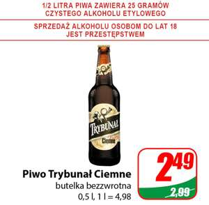 Piwo Trybunał ciemne but.bezzw. 0,5L /Dino/