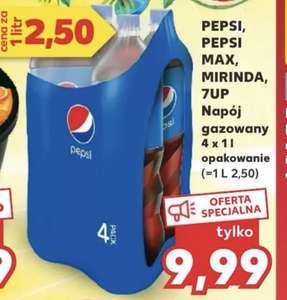 Od czwartku Pepsi Mirinda 7up 4x1L 2,50zl / 1L @kaufland
