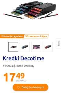 Kredki Decotime 44szt. w pojemniku. Sklep Action