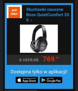 Słuchawki Bose QuietComfort 35 II czarny - iBOOD aplikacja mobilna