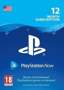 PLAYSTATION NOW - 12 Miesięcy - USA