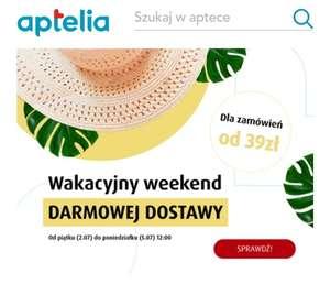Darmowa dostawa w aptece aptelia.pl do poniedziałku 5.07
