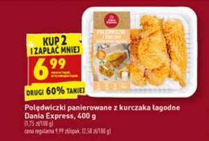 Polędwiczki panierowane z kurczaka łagodne Dania Express 400 g Biedronka