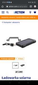 Ładowarka solarna do telefonu Action