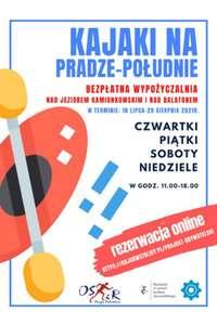 Darmowe wypożyczenie kajaków na Pradze-Południe