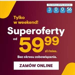 BEZ ZOBOWIĄZAŃ Internet światłowodowy 600/60 Mb/s dla nowych klientów, aktywacja 1 PLN | HBO GO,TIDAL,ELEVEN GO,PRASA ONLINE #vectra