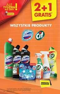 Wszystkie produkty Domestos i Cif 2+1 gratis Biedronka