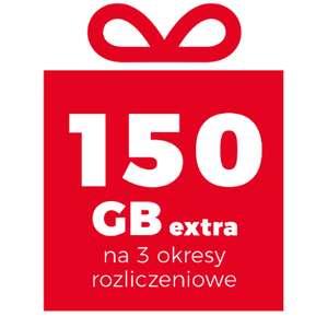 150 GB (50 GB miesięcznie) za podpisanie nowej/ przedłużenie umowy (min 49,99zl) w Plusie