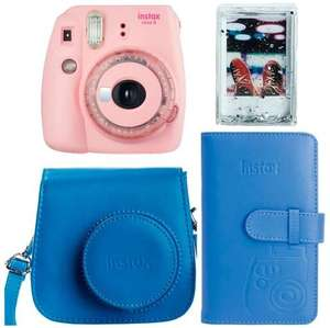 Aparat Fujifilm Instax Mini 9 Clear Pink + pokrowiec + album + ramka