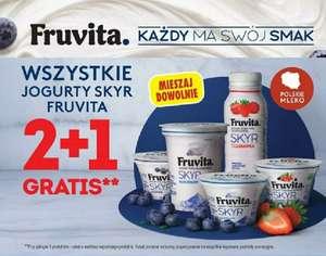 Wszystkie jogurty Skyr Fruvita 2+1 @Biedronka