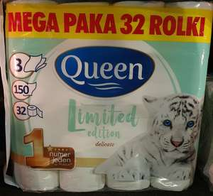 Papier toaletowy Queen 32 rolki mega paka Biedronka