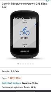 Nowa cena! Nawigacja rowerowa Garmin Edge 530