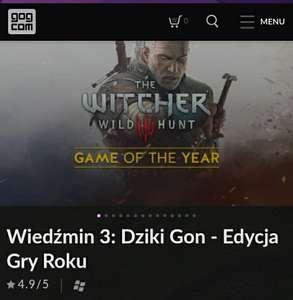 Wiedźmin 3: Dziki Gon - Edycja Gry Roku ( zakup przez VPN)