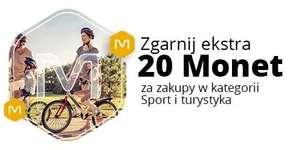 +20 Monet przy zakupie za min. 300 zł w kategorii Sport i turystyka @Allegro