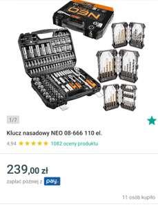 Zestaw kluczy Neo Tools 08-666 + wiertła gratis