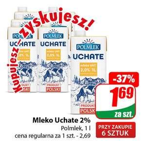 Mleko Uchate 2% 1l Polmlek (cena przy zakupie 6szt.) - DINO