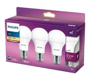 PHILIPS LED 13 W (100 W) E27 3 SZT. Eye comfort
