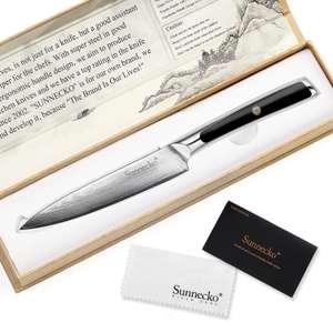 Nóż SUNNECKO VG10 ze stali damasceńskiej - razem z VAT'em 25.66$