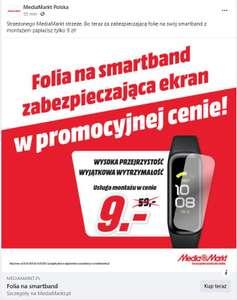 Folia zabezpieczająca na smartband