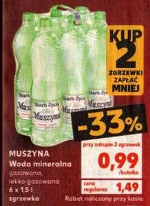 Woda mineralna Muszyna 0.99 zł/1,5l przy zakupie dwóch zgrzewek @Kaufland