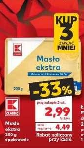 Masło ekstra 82 % 200 g przy zakupie 3 szt. @Kaufland