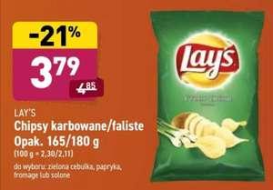 Lay's karbowane/faliste (165g/180g) różne smaki Aldi