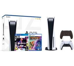 Sony PlayStation 5 (PS5) + DualSense (czarny) + FIFA 21 + Ratchet & Clank: Rift Apart