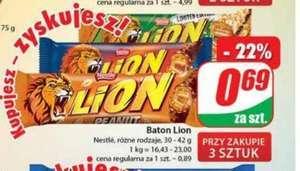 Baton Lion Nestle rózne rodzaje 30-42g przy zakupie 3 szt. \Dino\
