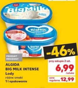 Lody Big Milk Intense 1l przy zakupie dwóch opakowań @Kaufland