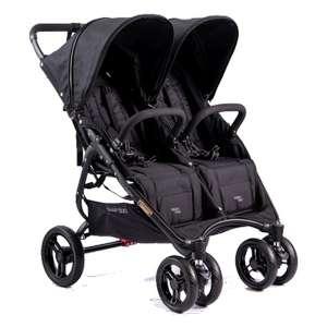 Ultralekki (9,8 kg) wózek bliźniaczy 'Valco Baby Snap Duo' w kolorze Coal Black za 1459 zł @Bobozakupy