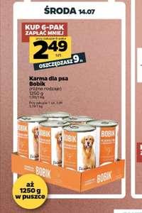 Karma dla psa 1250g Bobik przy zakupie 6 sztuk Netto