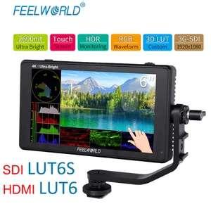 """monitor podglądowy Feelworld LUT6 6"""" HDMI   2600nit   LUT"""