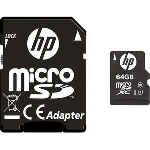 Karta pamięci HP microSDHC U1 Claas 10 64GB + Adapter