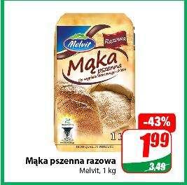 Mąka pszenna razowa lub mąka żytnia, żytnia razowa 1 kg @Dino