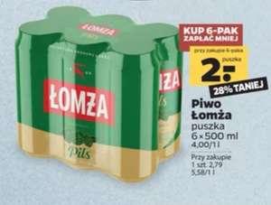 Piwo Łomża Pils puszka 0.5L cena w 6-paku