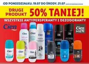Lidl Wszystkie antyperspiranty i dezodoranty Cien drugi 50% taniej
