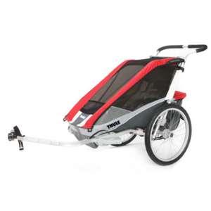 Przyczepka rowerowa THULE Chariot Cougar 1 w kolorze czerwono-czarnym za 2377,83 zł @pinkorblue