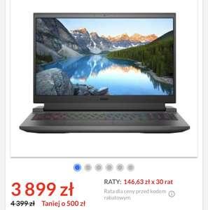 "Laptop Dell Inspiron G15 5510-0374 15,6"" 120Hz Intel® Core™ i5-10200H - 16GB RAM - 512GB Dysk - RTX3050 Grafika"