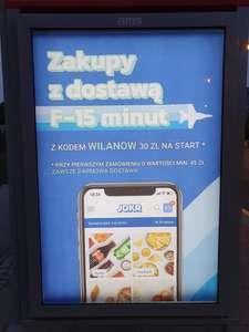 Rabat 30 zł na pierwsze zakupy przy MWZ 45 zł w aplikacji JOKR