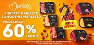 Sorbety i smoothie Marletto - drugie tańsze opakowanie 60 % taniej - Biedronka