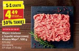 Mięso mielone z łopatki wieprzowej 500g 1+1 gratis BIEDRONKA