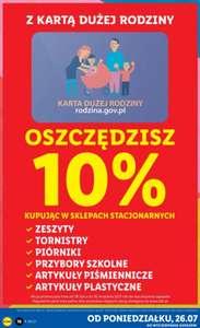 Przybory szkolne - 10% z Kartą Dużej Rodziny Lidl