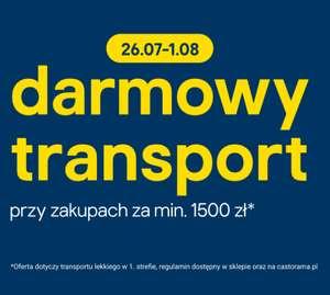 Darmowa dostawa w castoramie MWZ 1500zł