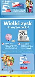 Bon 20zl za zakupy za 200zl w hipermarkecie Auchan z kartą Skarbonka