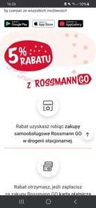5% rabatu przy zakupach z Rossmann GO