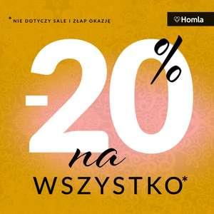 -20% na wszystko w Homla