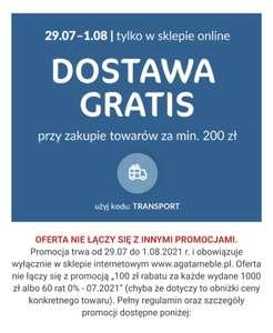 Agata meble - darmowa dostawa od 200 zł